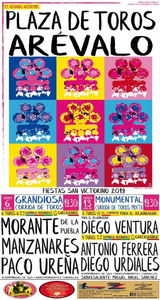 cartel-toros-fiestas-arevalo-2019